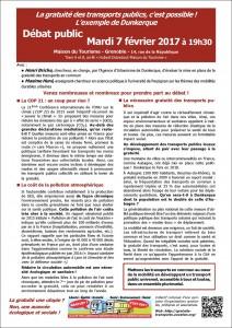 Débat gratuité Grenoble